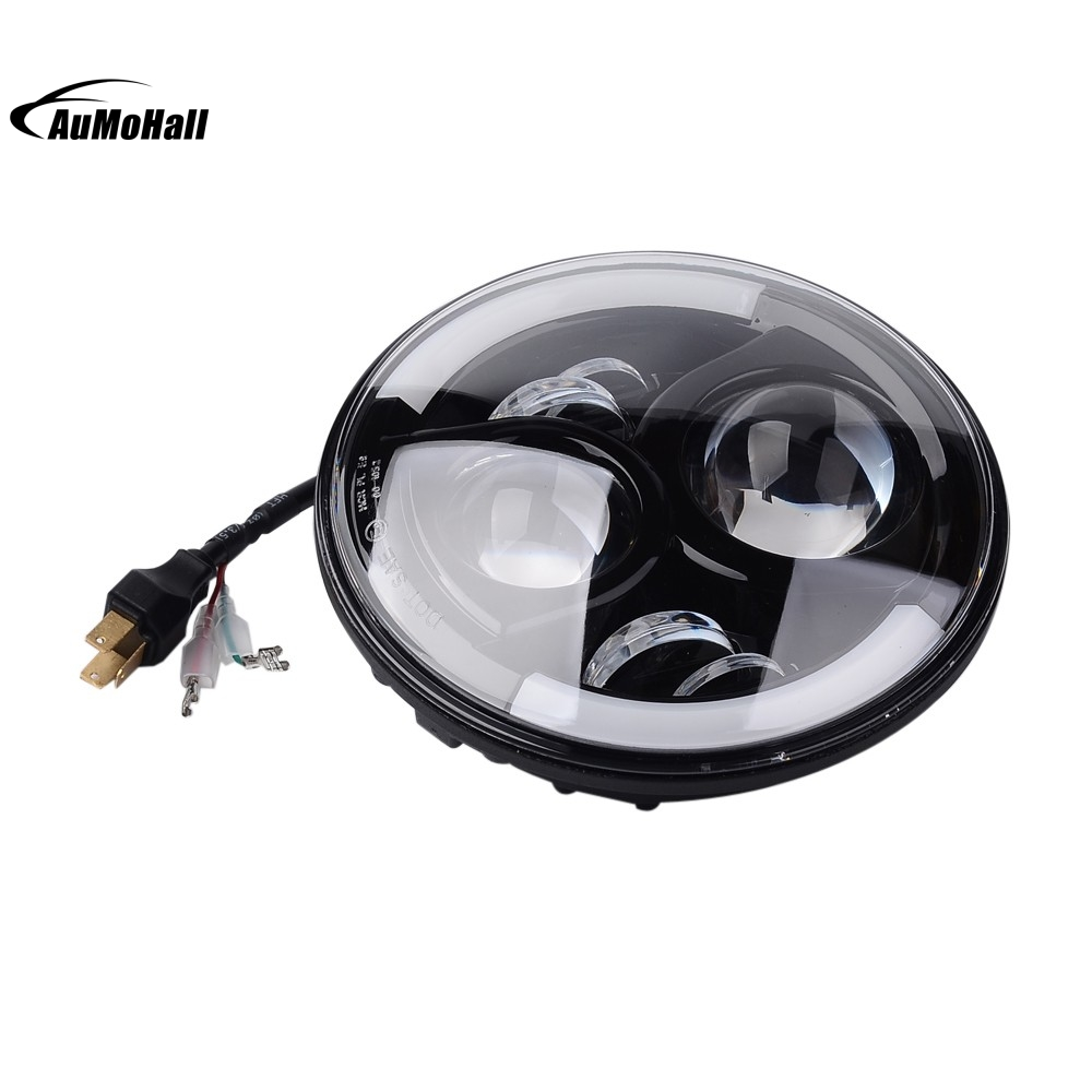 12v 60w 7 Inch Round Lens Led Projector Headlight H4 Driving Drive High Efficiency White Flashlight Light 2 Pieces In Car Assembly From Automobiles Motorcycles On
