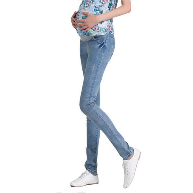 04f8952803c56 Belly Waist Maternity colored skinny Jeans plus size Pants For Pregnancy  Clothes Pregnant Women Legging Spring Clothing 2018