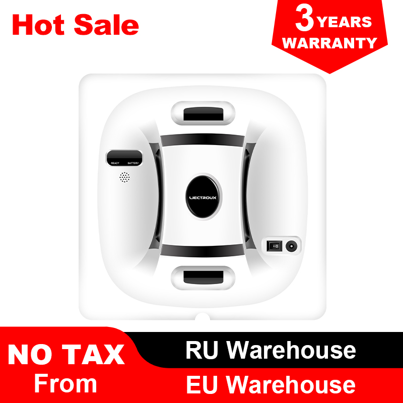 Liectroux X6 Robot Window Vacuum Cleaner Laser & Pressure Sensor Antifall Auto Glass Mop Home Floor Windows Wall Cleaning Robot 1