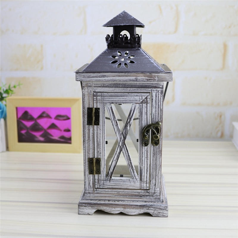 Us 15 46 35 Off Windproof Candle Holder Ornaments Wooden Lights Candlestick Crafts Home Decor Candle Holders Candle Lantern Candelabro P In Candle