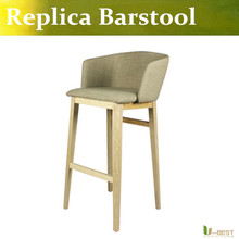 Free shipping U-BEST high quality fabric counter stool ,replica barstool for bar ,coffee shop and kitchen etc.many colors