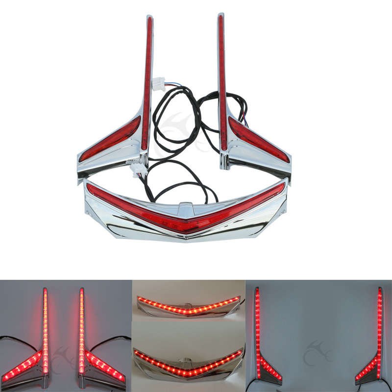 Moto Fender Astuce Accent Vertical De Frein LED Bandes de Lumière Pour Honda Goldwing F6B GL1800B 12-16