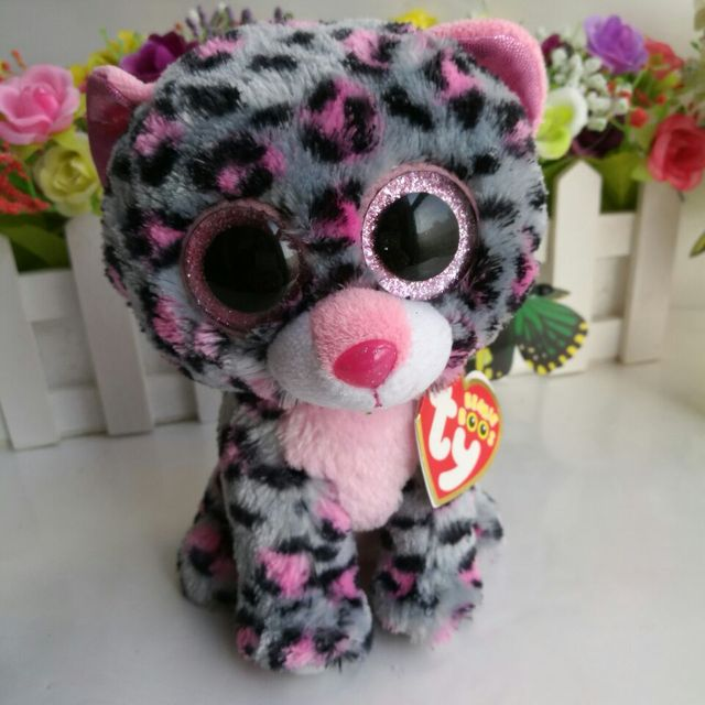 e32d515a5a9 Tasha leopard 15CM 6  In Stock Original Ty Beanie Boos collection Big Eyed  Stuffed Animal Toy Birthday Gift SOFT TOY Plush Toy