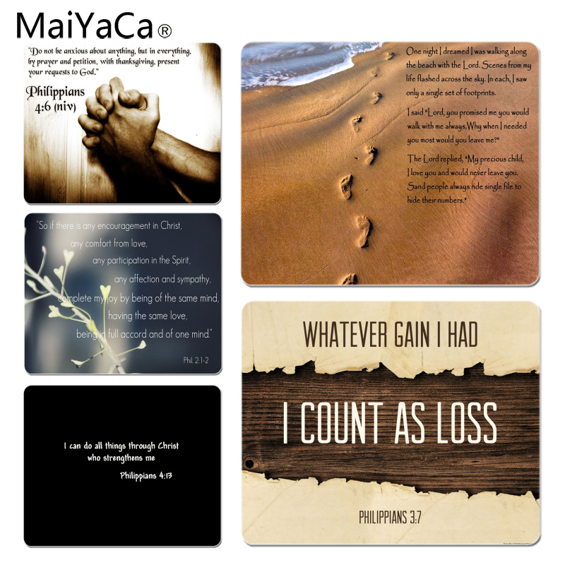 MaiYaCa <font><b>My</b></font> <font><b>Favorite</b></font> <font><b>Bible</b></font> verse Philippians Silicone Pad to Mouse Game Size for 18x22cm 25x29cm Rubber Mousemats