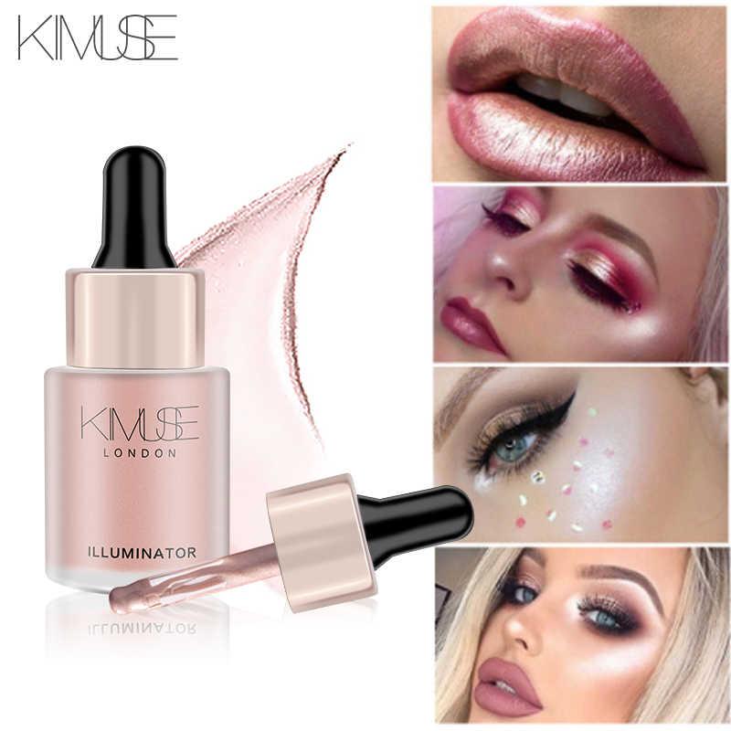 KIMUSE Illuminator Highlighter Liquid Long-lasting Brighten Bronzers Cream Makeup Shimmer Glow Facial Shiny Highlight