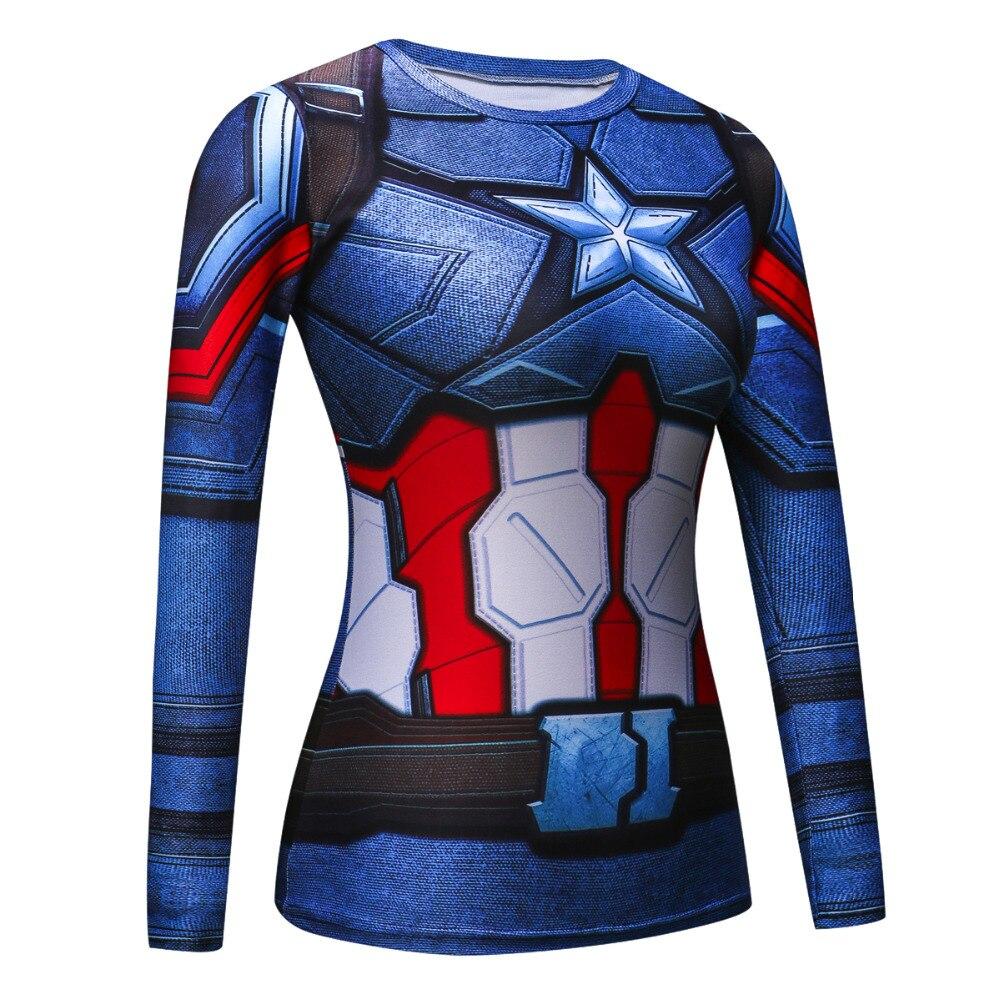 3d Printed T Shirts Women Raglan Long Sleeve Compression Shirt Flash