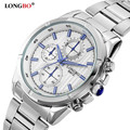 Longbo hot popular sports brand military dive quartz mens watch full steel waterproof fashion casual male luxury watches relogio