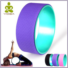 TPE Yoga Circles Pilates Professional Waist Shape Bodybuilding ABS Gym Workout Yoga Wheel Back Training Tool For Fitness
