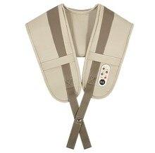 Electrical Shiatsu Shoulder Massage Shawl 3D Kneading Vibration Back Neck Massager Frozen Shoulder Pain Relief Relaxation