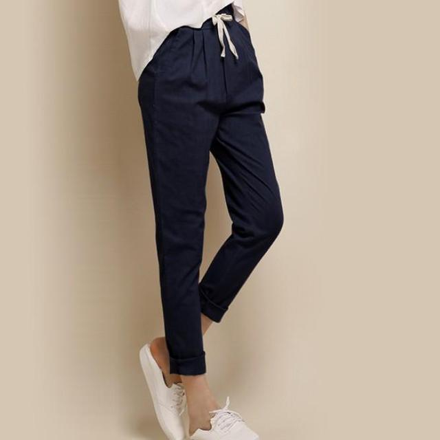 Nova Moda Calças de Todos Os Jogo de Cintura Elástica Soltas Pantalon Doces Coloridos Calça Casual Calças das Mulheres