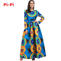 Free Shipping New African Dashiki Rche Dress For Women Lolita Wind Dress Long Pendants Long Sleeves