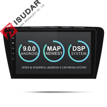 Isudar Auto Multimedia Player 1 Din DVD Automotivo Android 9 Per Skoda/Octavia 2014-GPS Quad Core RAM 2 GB ROM 16 GB Radio FM