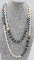Freshwater Pearl White Black Labradorite Quartz 10mm Round 45inch FPPJ Wholesale Beads Nature Blue Rabinbow