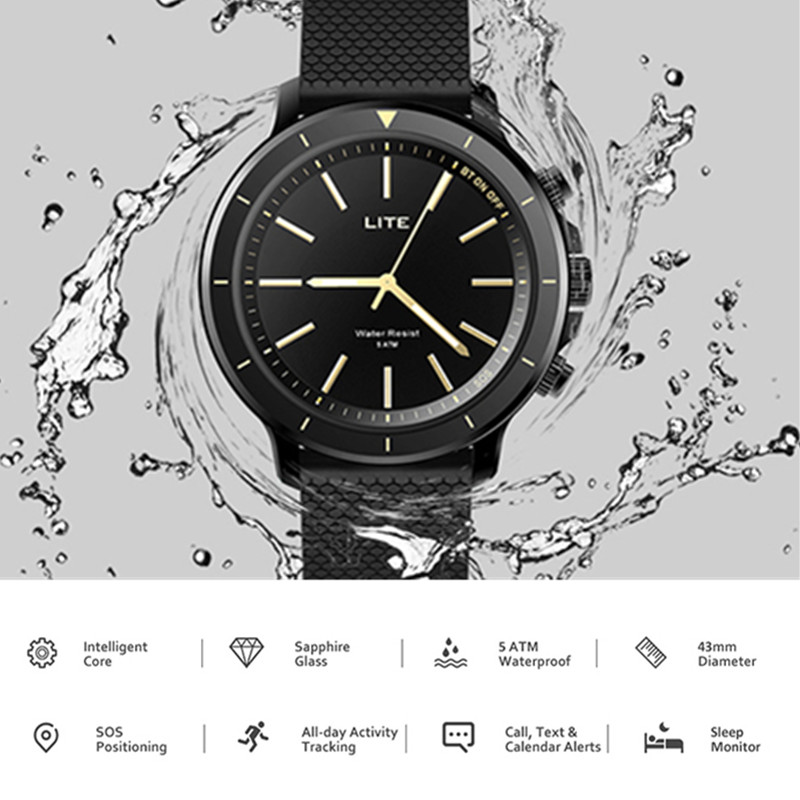 Zeblaze VIBE LITE Bluetooth Smartwatch 5ATM Waterproof Smart Watch Sport Fitness Tracker 24-Month Standby For IOS Android Men