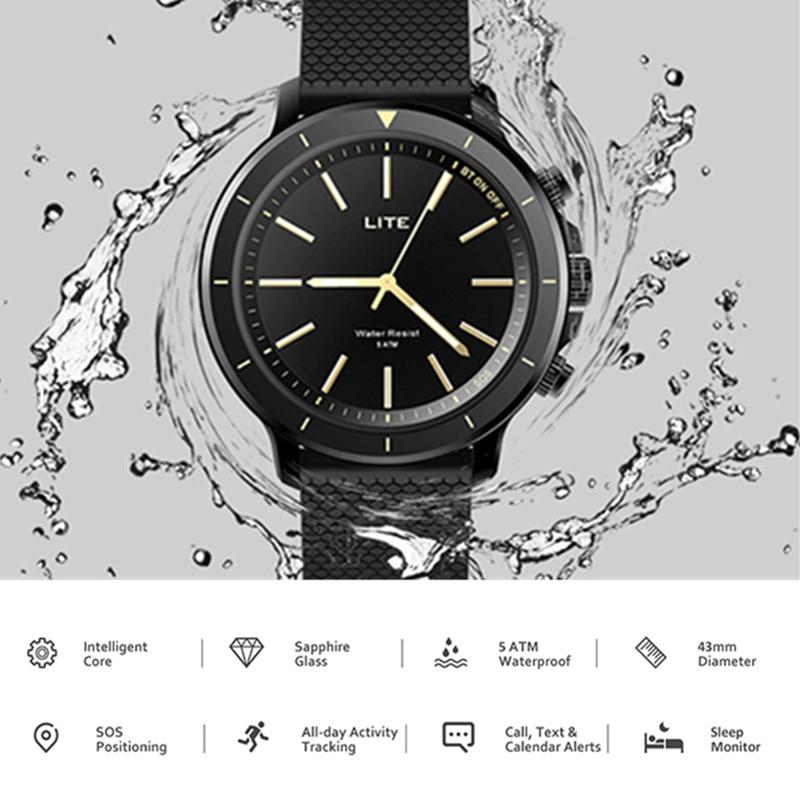 Zeblaze VIBE Lite Bluetooth ကိုစမတ်နာရီ 5ATM IOS ကိုအန်းဒရွိုက်အမျိုးသားများအတွက်များအတွက်ရေစိုခံ Smart Watch အားကစားကြံ့ခိုင်ရေး Tracker 24-လကို standby