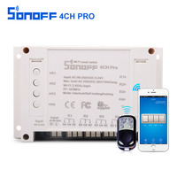 Sonoff 4CH Pro 4 Gang Inching Self Locking Interlock WiFi 433MHZ RF Smart Switch For Light