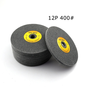 Image 3 - 10 pcs 150*6mm 7P 12P Non woven Unitized Wheel 180# 240# 400# for Stainless Steel Deburring Polishing