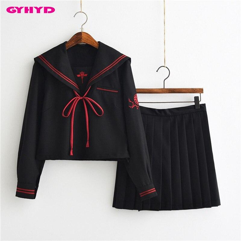 GYHYD démon foncé Cosplay filles costume de marin JK ensembles uniformes scolaires japonais été marin enfer fille