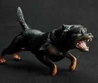 Rottweiler Dog Simulation Model Animals Kids Toys Children Educational Props Farm Animals Pet Kids Toys Desktop Figurine
