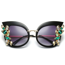 0f6b8303e0d 2018 Stylish Female Brand Designer Round Oversized Cat Eye Classic Mirror  Cateye Sunglasses Women Party Vintage Lady Sun Glasses