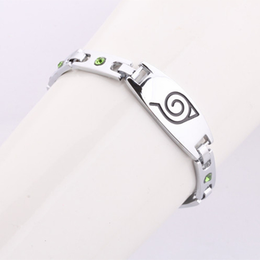 Anime Naruto Konoha Logo Bracelets High quality Alloy Men Women Bracelet