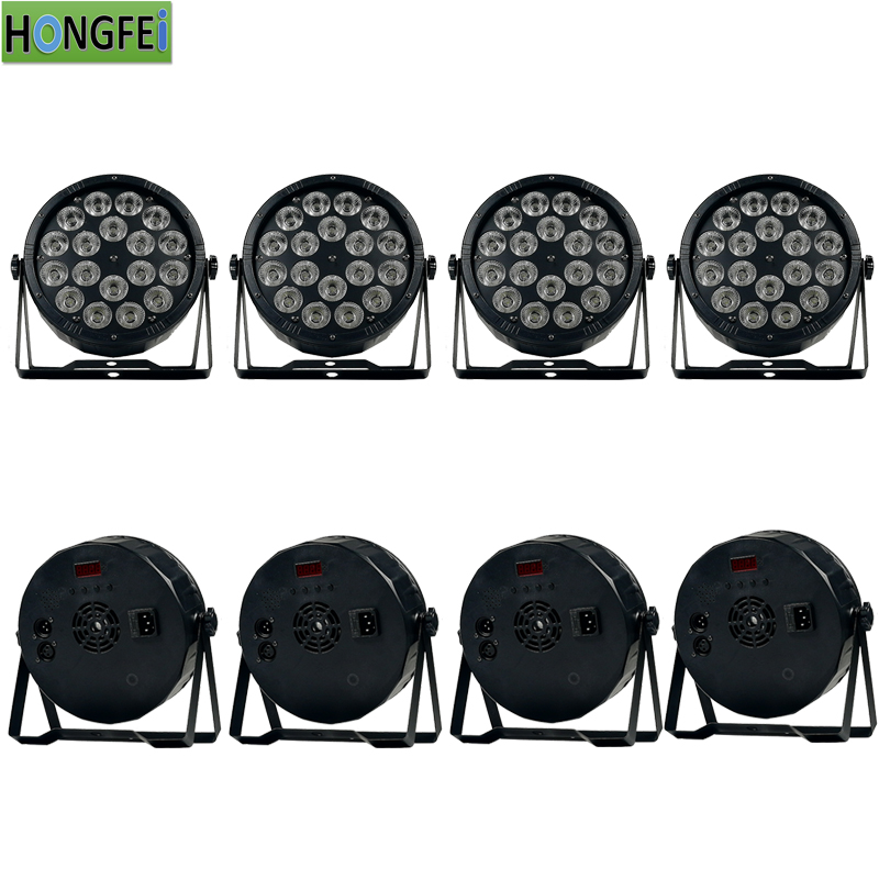 8 pieces 18x12w led par light rgbw 4 in 1 dmx512control disco light par led professional