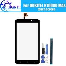 Oukitel K10000最大タッチスクリーンガラス100% 保証オリジナルタッチスクリーンデジタイザガラスパネルの交換K10000最大 + ギフト