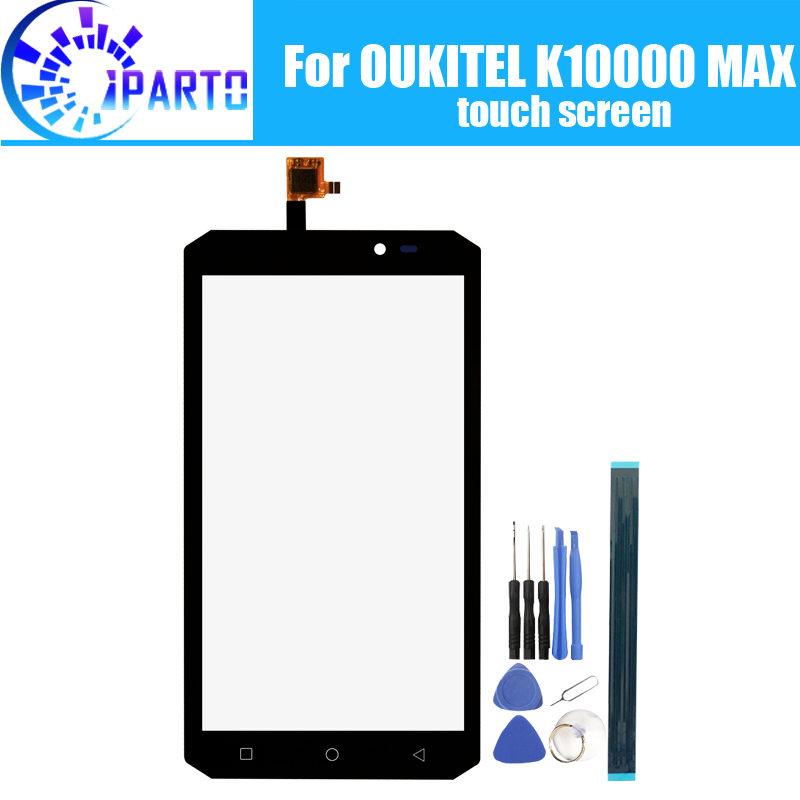 Oukitel K10000 MAX Touch Screen Glass 100% Guarantee Original Digitizer Glass Panel Touch Replacement For K10000 MAX+Gifts-in Mobile Phone Touch Panel from Cellphones & Telecommunications