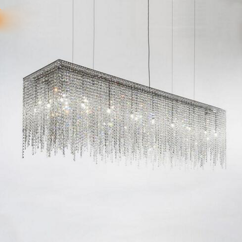 цена Living room crystal chandelier luxury model room after the modern minimalist Nordic bedroom dining room chandelier crystal lamps