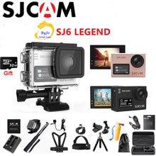 Оригинальная Спортивная Экшн-камера SJCAM SJ6 Legend NTK96660, 4K HD, 2 дюйма, сенсорный экран, водонепроницаемая Спортивная экшн-камера, 32 ГБ, SD-карта в по...