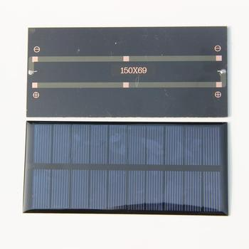 BUHESHUI Wholesale 5V 1.5W Polycrystalline Epoxy Solar Panel Solar Cell DIY Solar Charger For 3.6V Battery 30pcs  Free Shipping