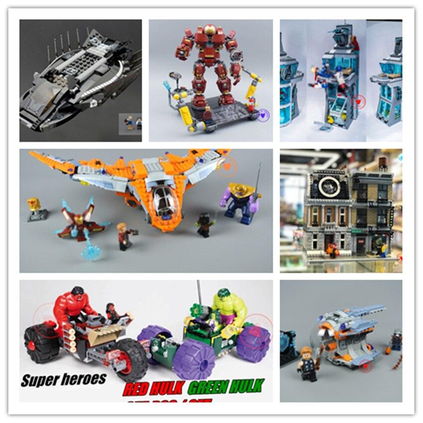 New super heroes Avengers hulkbuster ironman marvel fit legoings Thanos infinity war figure Building Block mattoni regalo fai da te giocattoli