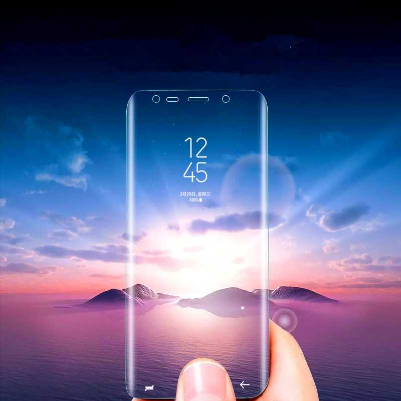 For Samsung Galaxy S9 S8 Plus S7 S6 Edge Note 8 9 Screen Protector Pet Film Full Cover (Not Tempered Glass)3D Curved Round Edge