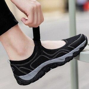 Image 3 - Zomer Mesh Sneakers Vrouwen Flats Schoenen Adem Wandelschoenen Loafers Casual Schoen Vrouwelijke Tenis antislip Fashion Sneaker Sapatos Feminino