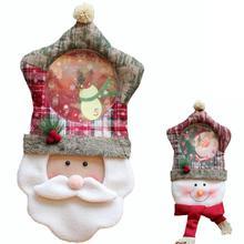 Christmas Decoration For home Snowman Santa Claus wall clock Christmas Decorations China Ornaments Xmas Gift Navidad S3