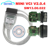 2018 New Firmware V2.0.4 MINI VCI SW V13.00.022 K Line+CAN For Toyota TIS Techstream FTDI FT232RL Multi Language MINI VCI