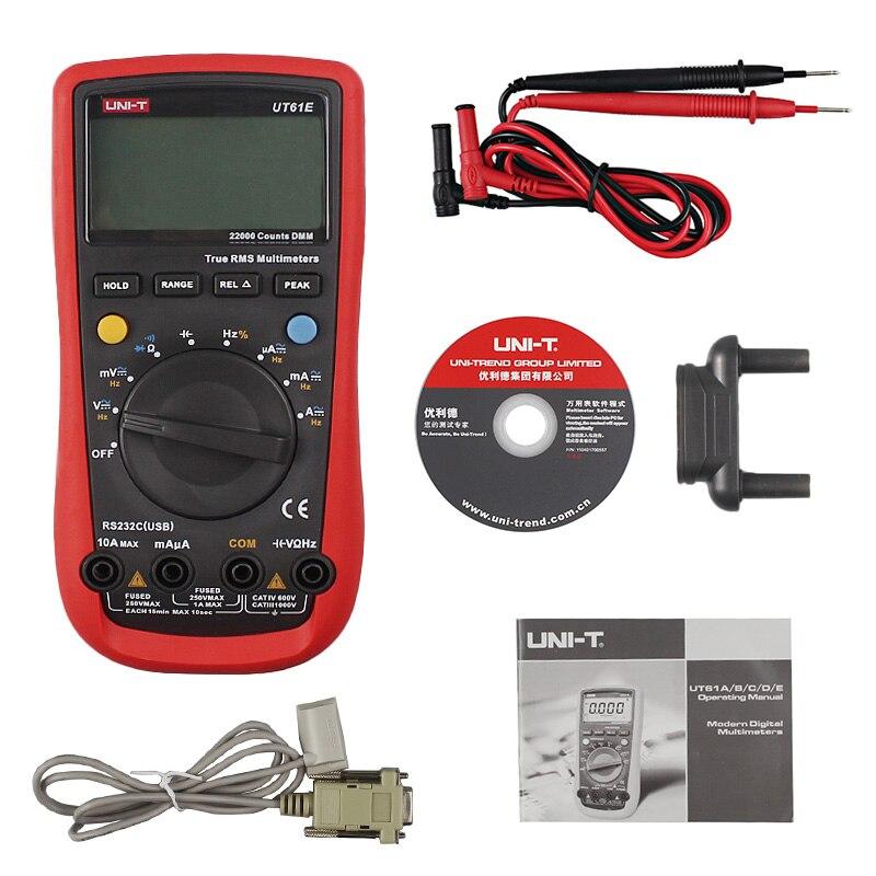 UNI-T UT61E High Reliability Digital Multimeter UT61E Modern Digital Multimeters AC DC Meter CD Backlight &Data Hold Multitester цена