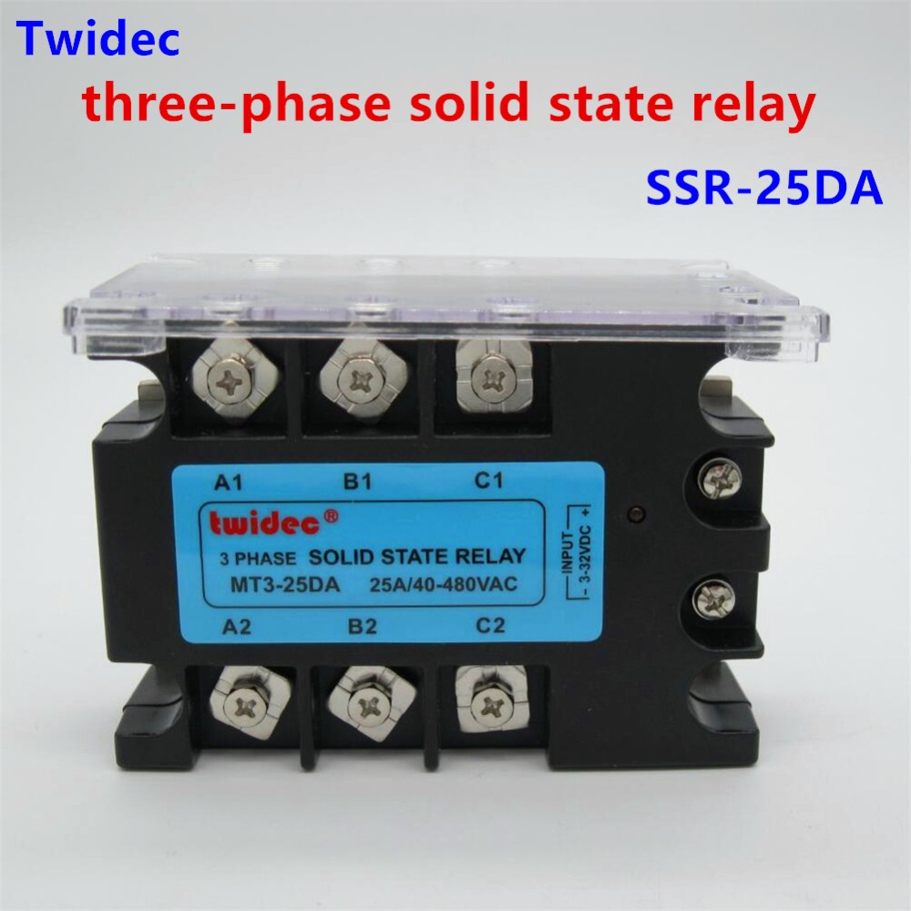 Tsr 60da 3 Phase Solid State Relay 60a 32v Dc To 30 480v Ac Power Relays High Quality Three Ssr 25da 32vdc