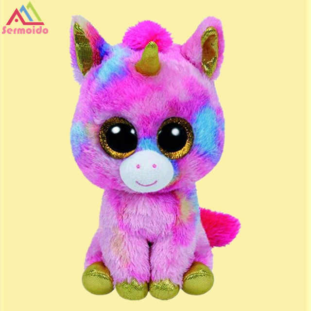 ... TY Beanie Boo Black Dragon Anora Unicorn 6