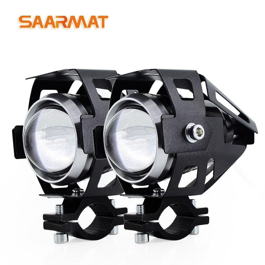 2 ks U5 125W Motocyklové světlomety pomocné svítilny motocyklové reflektory příslušenství motor DRL Světlo reflektorů světlometů 12V 6000K