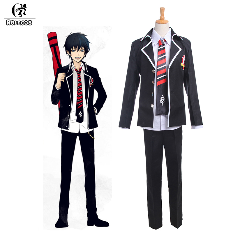 ROLECOS Anime Blue Exorcist Ao No Exorcist Cosplay Costumes Okumura Rin Cosplay Costumes School Uniforms Jacket