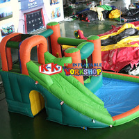 Small water park Inflatable sliding pool combination