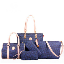 Herringbone Printing Handbag Five sets Vintage Bag Ladies Famous Designer Brand Bag Women Leathe handbag Composite