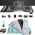 Novo Portátil 107 Teclas 2.4G Sem Fio Teclado de Silicone Roll Up EM88 Tablets À Prova D' Água Teclado Dobrável para PC Portátil