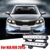 Super Bright Newest Car Styling 8 LED DRL Daytime Running Light Fog Lamp For KIA K2