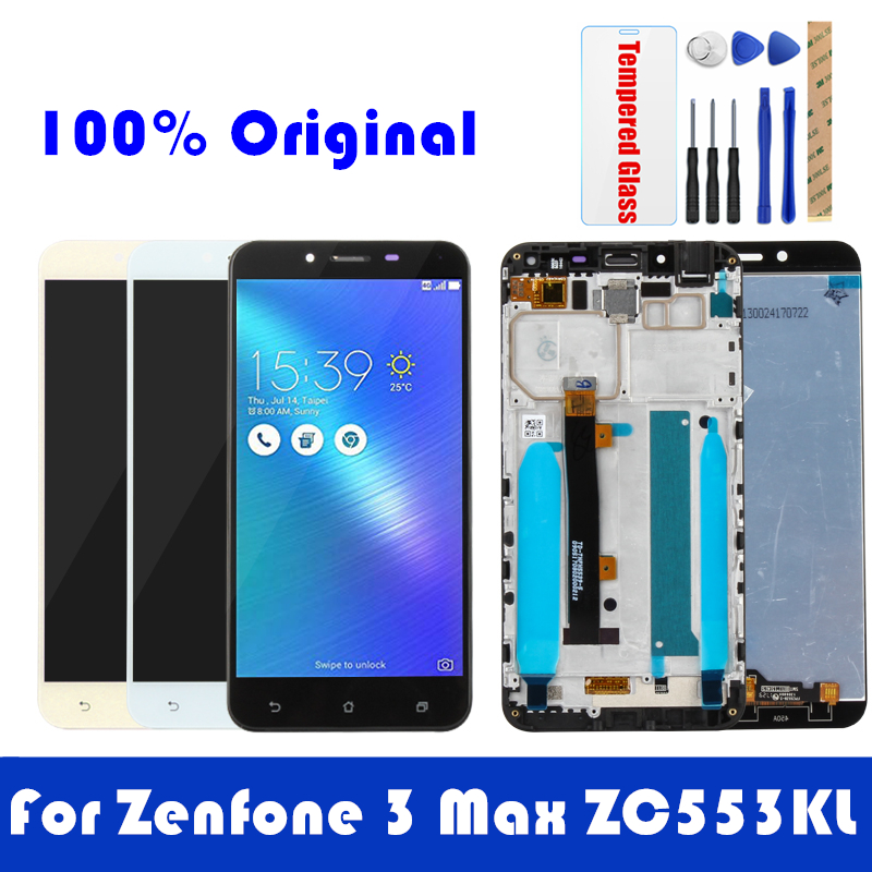 Original For Asus Zenfone 3 Max ZC553KL LCD Display Frame Touch Panel Screen LCD Digitizer Replacement