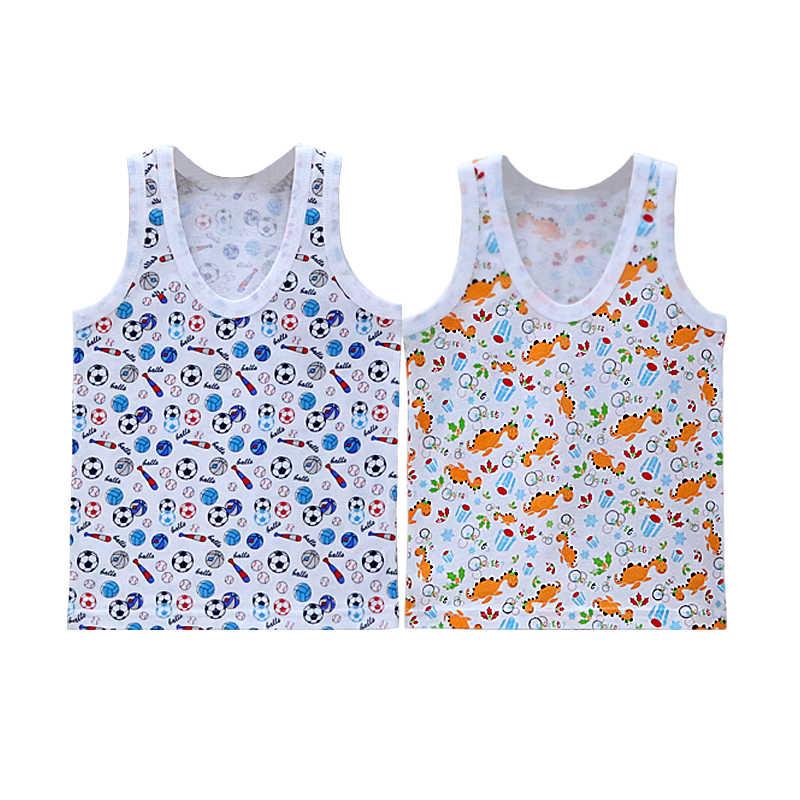 100% コットンボーイズ 2 ピース/ロットシャツ女の子ノースリーブシャツ約 5-8 歳ベビーキッズ服