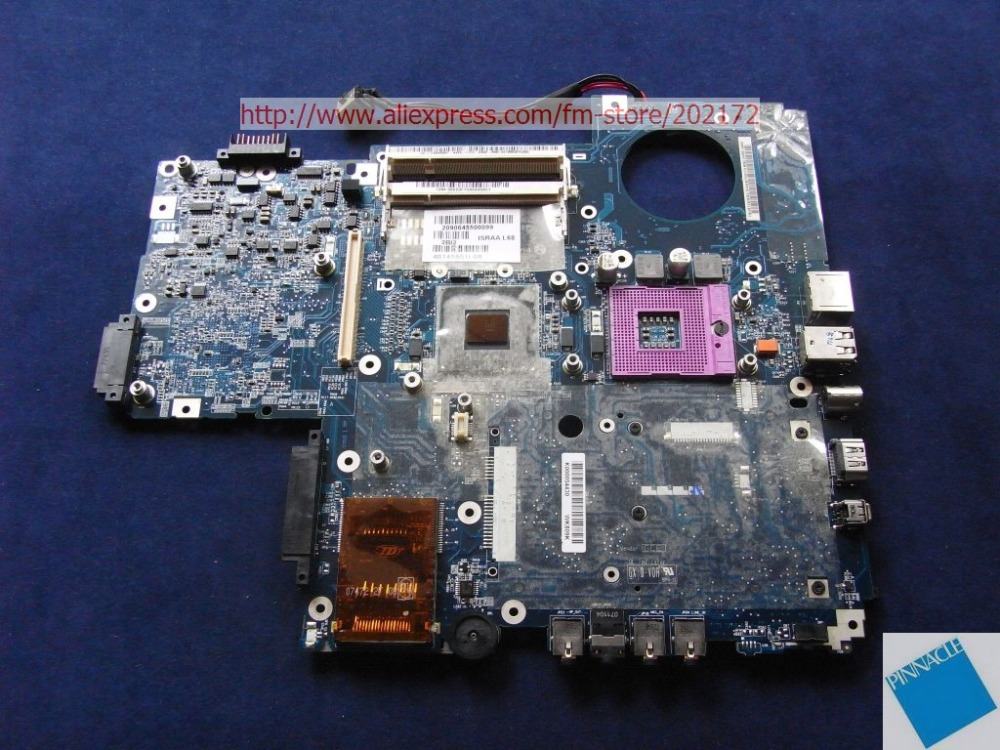 K000054430 Motherboard for Toshiba satellite  P200 P205 LA-3441P  ISRAA L68 tested good israa la 3441p rev 2b k000057540 for toshiba satellite p200 p205 laptop mainboard 965gm with intel hd graphics