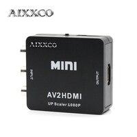 Aixxco Мини AV к HDMI аудио конвертер RCA к AV к HDMI мужчин и женщин сигнала конвертер распределительной коробки 1080 P для ТВ, vhs видеомагнитофон, dvd