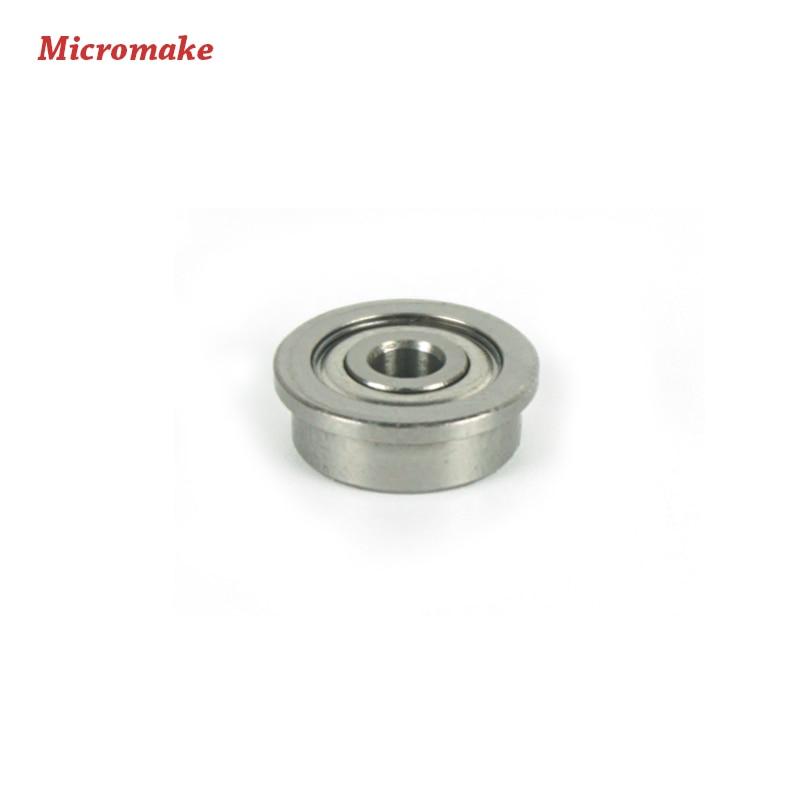Micromake piezas de la impresora 3d 10 unids/lote f623zz brida buje rodamientos